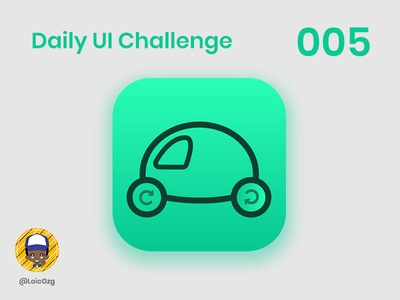 Daily UI Challenge 005 - App Icon ui ecology care green project safe car app icon icon app challenge dailyui