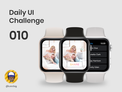 Daily UI Challenge 010 - Share button gradient instagram tap photo apple watch apple simple ui button share challenge daily ui