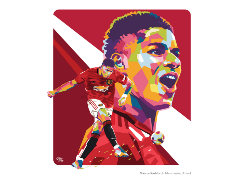 Marcus Rashford Manchester United By Gilang Bogy On Dribbble