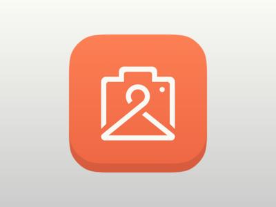 Flat fashion-app icon