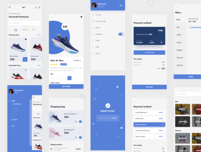 Nike app redesign uidesignpatterns typography android app ios adobe xd ux dribbble dailyui ui design