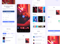 Short video platform appdesign delivery service tiktok typography interaction uidesignpatterns ux ios android app dribbble ui dailyui design