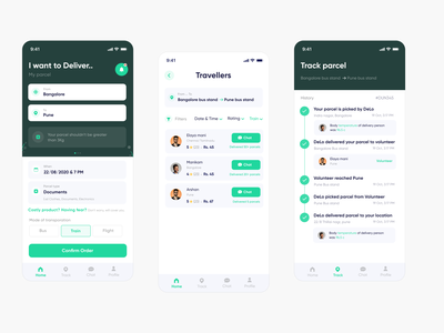 Volunteer Delivery app - UI/UX Case Study delivery app home homepage design delivery service delivery app ui  ux uiuxdesign uxdesign uxcasestudy uidesign ux illustration interaction dribbble android app design typography uidesignpatterns dailyui