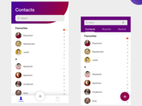 ios and material design-contacts