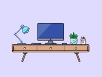 Working table illustration