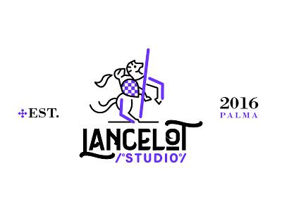 Lancelot Studio Logo Design development code spear camelot lancelot knight logo brand colombia cali studio barbarosa