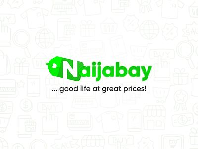 Naijabay e-Store minimal web icon logo illustration product design design branding