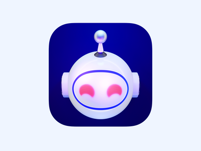 Apollo App Icon robot design lucas haas logo icon app 3d ui reddit apollo