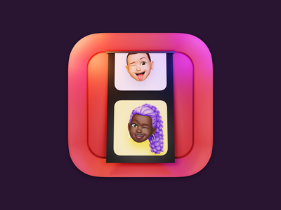 Big Sur Photo Booth Icon ui design print photo photo polaroid memoji icon photo booth app 3d lucas haas macos big sur