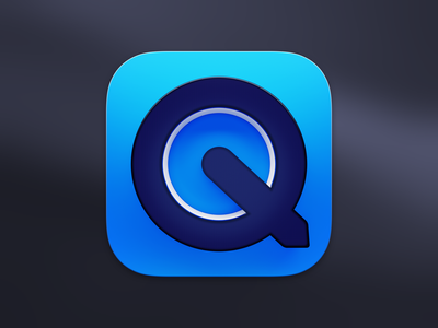QuickTime Player Icon for macOS Big Sur design ui lucas haas icon pixel display ios 3d quicktime big sur