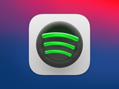 Spotify Icon for BigSur icon app music spotify logo ui macos icon macos big sur lucas haas