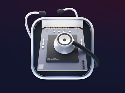 Disk Utility icon for Big Sur app lucas haas 3d icon design drive ssd disk utility iconography big sur macos icon