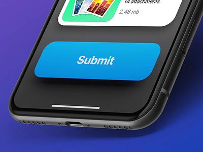 Button Press motion microinteraction interaction animation ui ux button app design attachment app ios