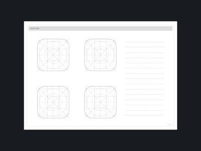 macOS Big Sur Icon Template Sheet ios design template icon template icon app big sur macos