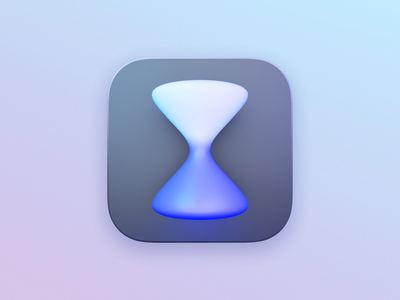 Countdowns app icon refresh blender 3d ui icon big sur macos ios app countdowns