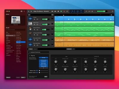 GarageBand for BigSur uxdesign drums icons loops app design music uidesign app macos big sur garageband ux lucas haas ui