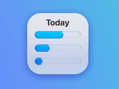 Daily Time Tracking Icon Animation big sur animation 3d icon app ui