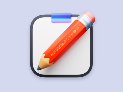 SketchBook Icon For Big Sur pencil app illustration macos big sur 3d lucas haas icon ui