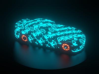 Vehicular Energy Flow fluid motion animation crypto cryptoart 3d electric mercedes-benz amg car