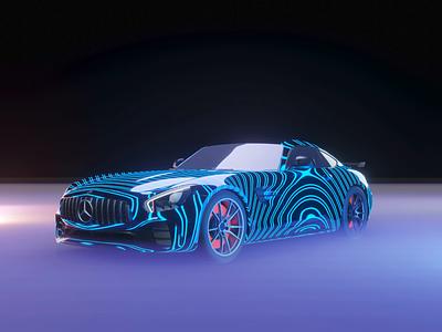 AMG Power design animation design blender 3d eevee simulation animation mercedes-benz amg