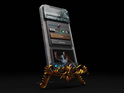 User Interface Monument NFT lucas haas design nftart nft classic illustration 3d user interface ui design