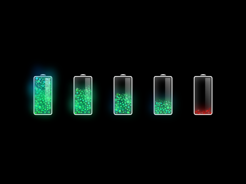 More shiny batteries lucas haas flow particles akku energy battery ux ui icon app icon