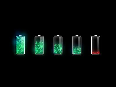 More shiny batteries lucas haas flow particles akku energy battery ux ui icon app icon
