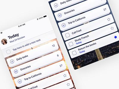 GTD Concept progress app concept ux ui app list tasks todo gtd