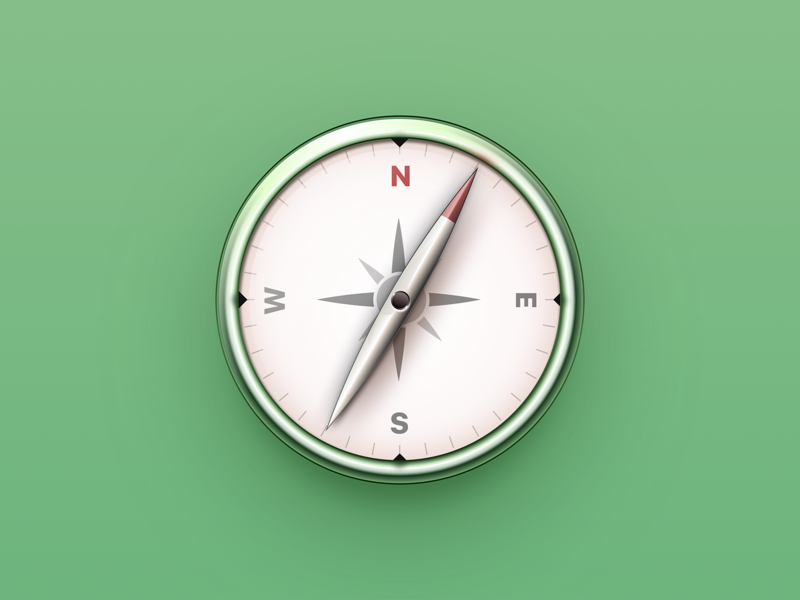 Compass illustration macos icon icon compass ux ui lucas haas