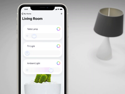 Smart Home: Lights ios smartlights smarthome lamp lights design animation 3d lucas haas app ui ux