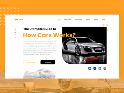 How Cars Works UI Kit - Part 01 car parts car spare parts how car works figma car website cars design cars website ui design website design website ui website ux website invision adobe xd