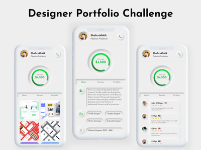 Designer Portfolio UI Kit portfolio design portfolio neumorphic design neumorphic neumorphism ui neumorphism uidesign ui design ui android ui ios ui kit ios ui ui ux mobile app design design uiux adobe xd