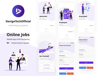 Job Finder uiux design on boarding adobexd app uiux job finder app find job jobs finding jobs android ui kit ios ui kit android ui ios ui android ios uxdesign ux ux kit ui design ui ui kit