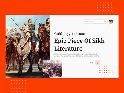 Chapters Landing Page UI Kit landing page design landing page ui kit sikh cultivation figma cultural war culture literature design uiux adobe xd