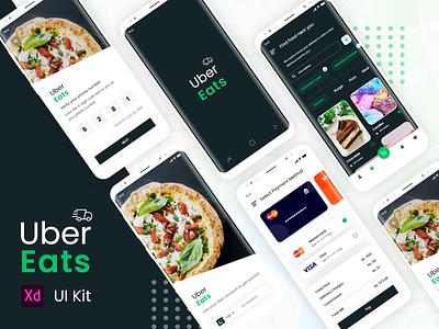 Uber Eats Redesign Challenge fooddeliveryapp food fooddelivery uber app design uber eats invisionapp axure rp 9 branding mobile app ui ux design mobile ui uiux ui adobe xd