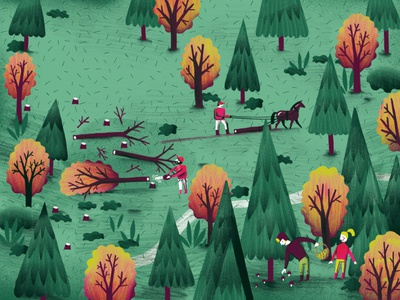 """Do you hear the trees talking?""/illustration2"