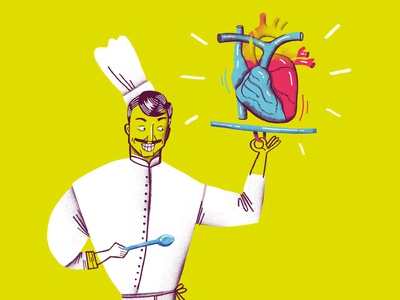 Book illustration. The cook