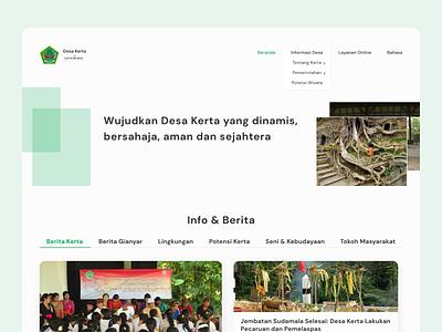 Kerta Village Official Website Redesign Concept website ux ui government