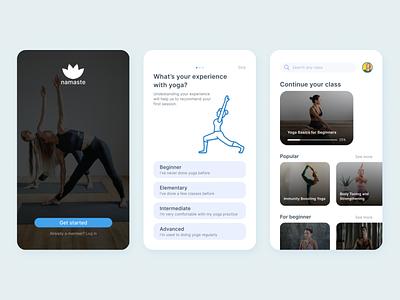 Yoga App yoga mobile android ux ui