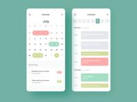 Calendar & Project management App Concept