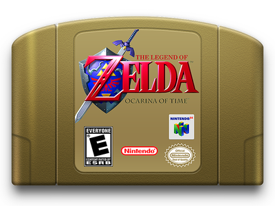 Zelda: Ocarina of Time Cartridge Icon the legend of zelda ocarina of time icon nintendo 64