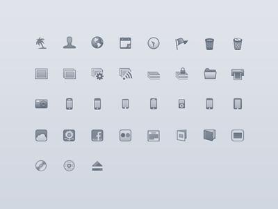 Apple iPhoto Source List Icons