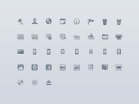 Apple iPhoto Source List Icons