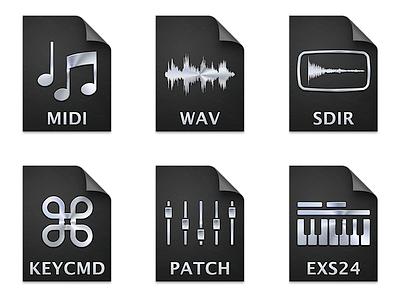 Apple Logic Pro X Document Icons (2013) apple logic pro x icons icon document icons