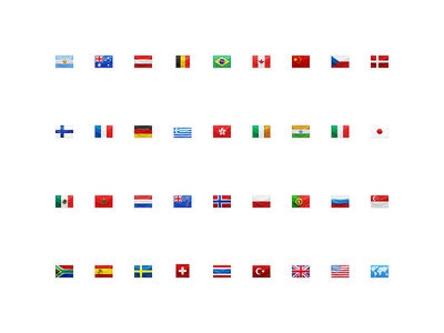 Apple iPhoto Places Flag Icons (2011) apple ios icons flags iphoto