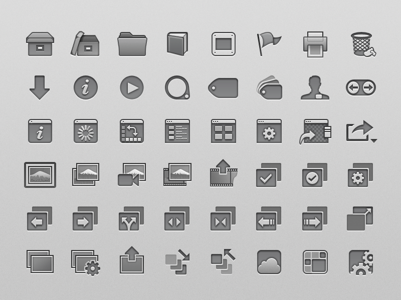 Aperture toolbar icons