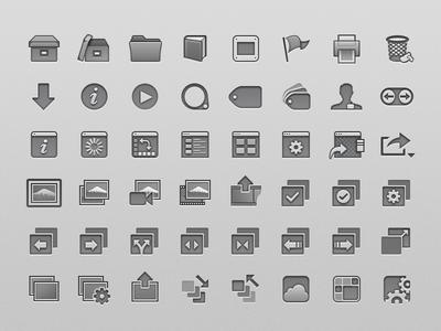 Apple Aperture Toolbar Icons (2012)