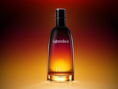 Fahrenheit perfume bottle dior fahrenheit glass