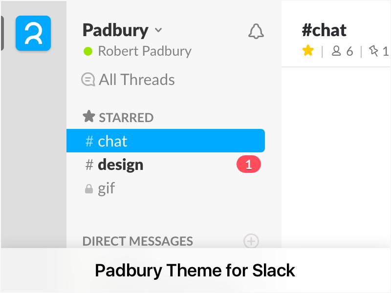 Padbury Theme for Slack theme slack