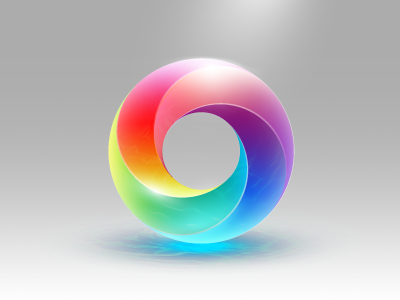Secret Icon Rainbow Remix (DoubleTwist AirSync Icon) mobius strip icon caustics rainbow rebound remix doubletwist airsync